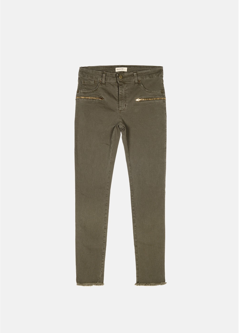 RULES ZIP SKINNY TROUSERS