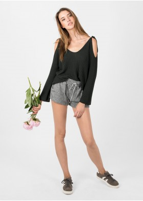 JOIN BELLED SLEEVE V-NECK SWEATER
