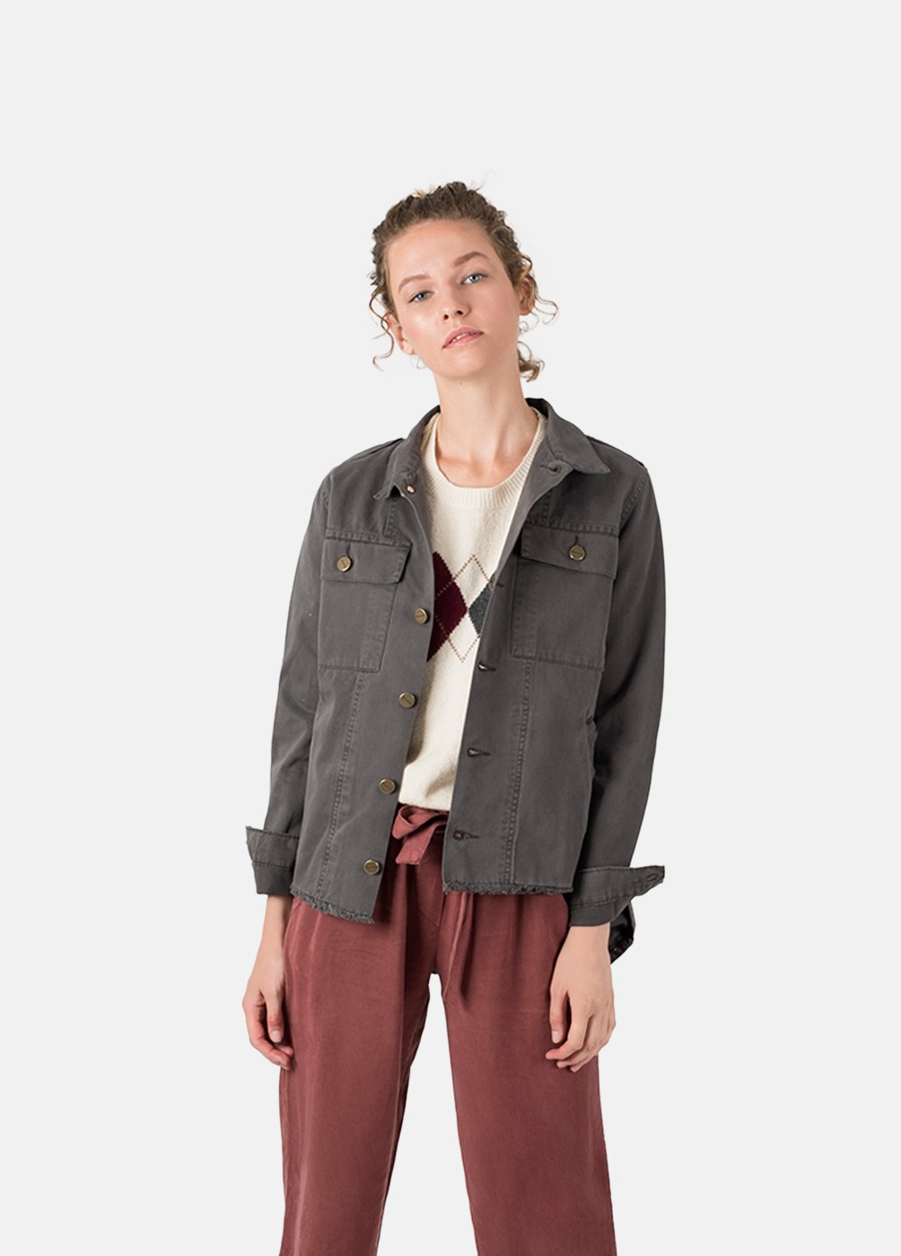 ARMY CROPPED JACKET
