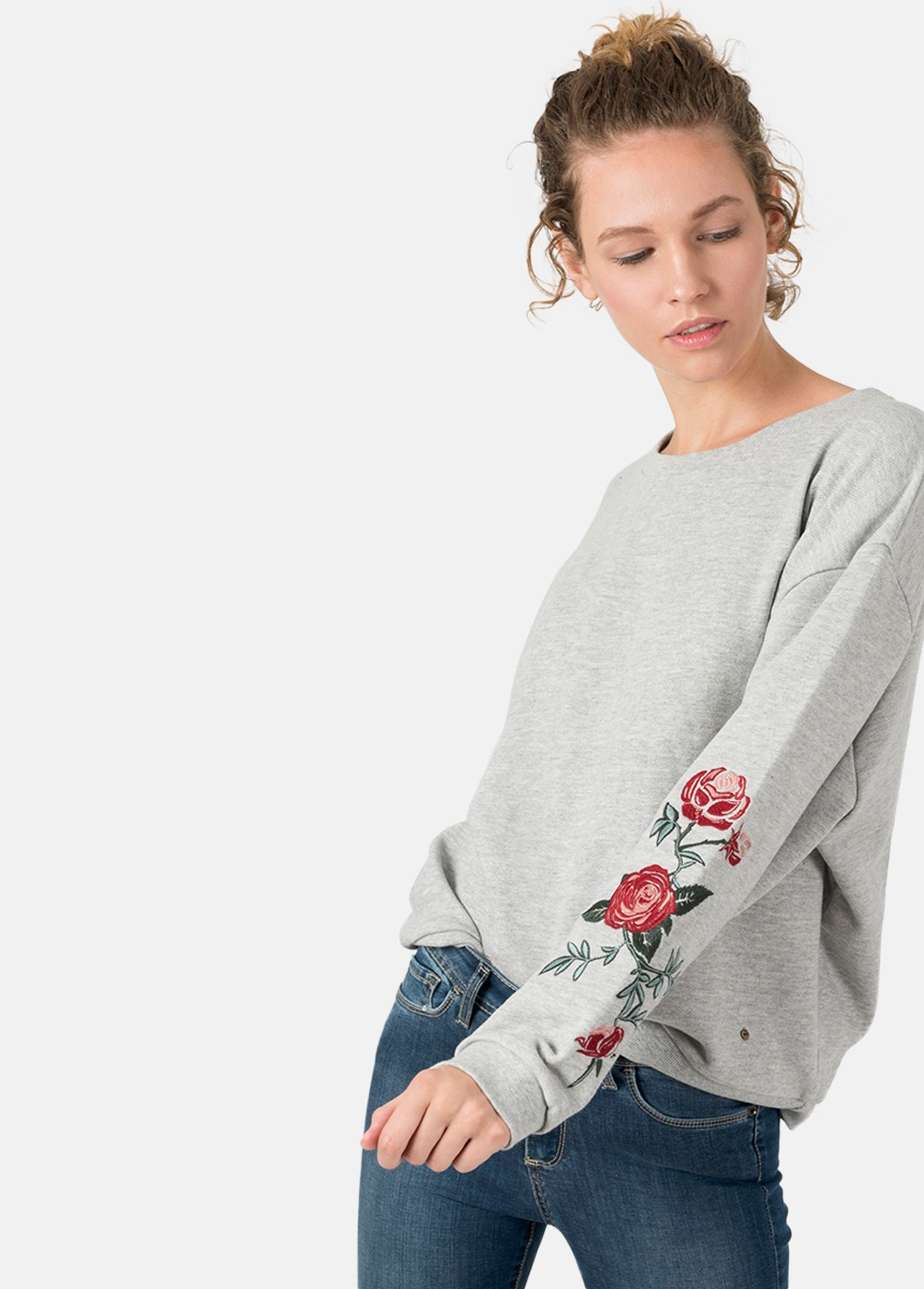 Sudadera bordada Roses