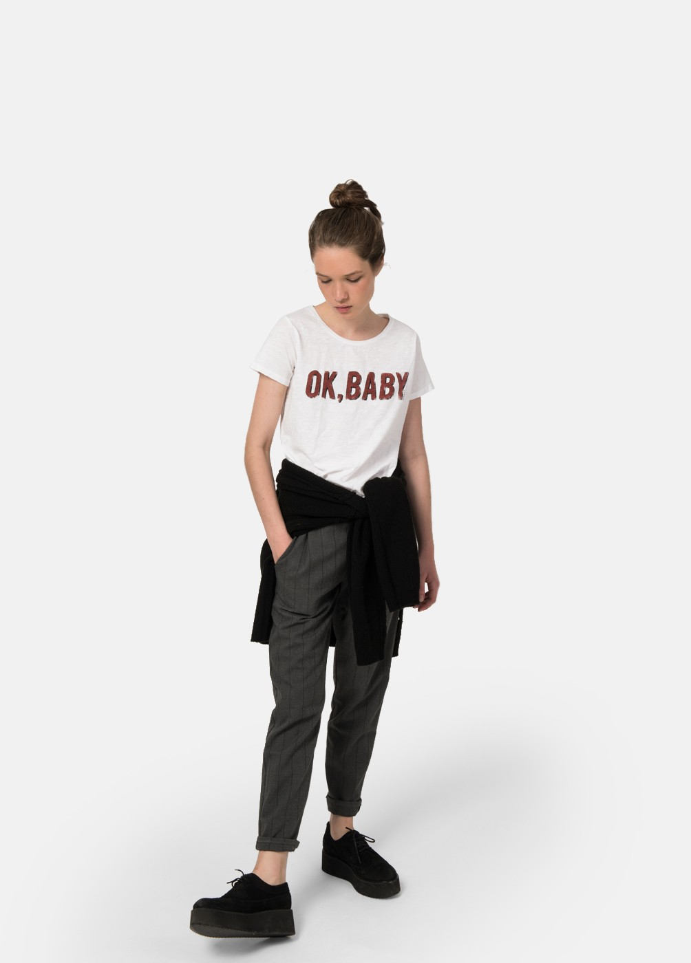 CAMISETA OK BABY M/C C/RED