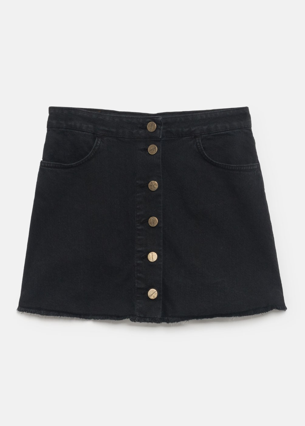 BUTTON SKIRT WITH POCKETS