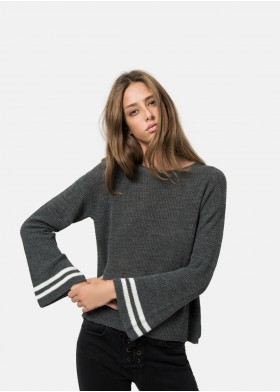 KAEILI FLARED SLEEVE SWEATER