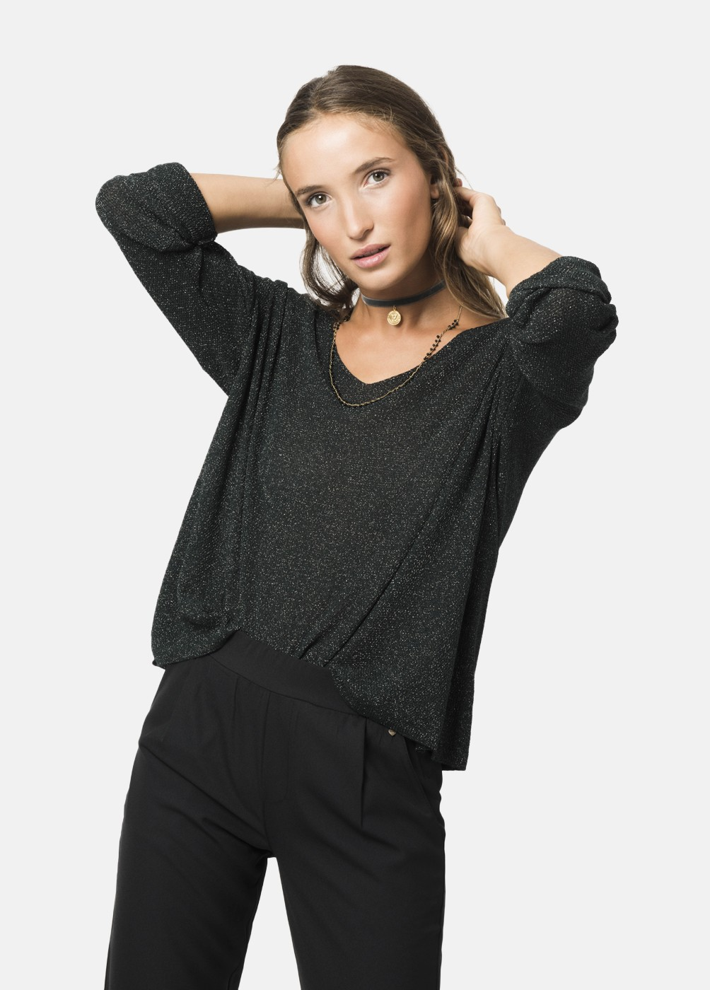 CHIC2 LUREX SWEATER
