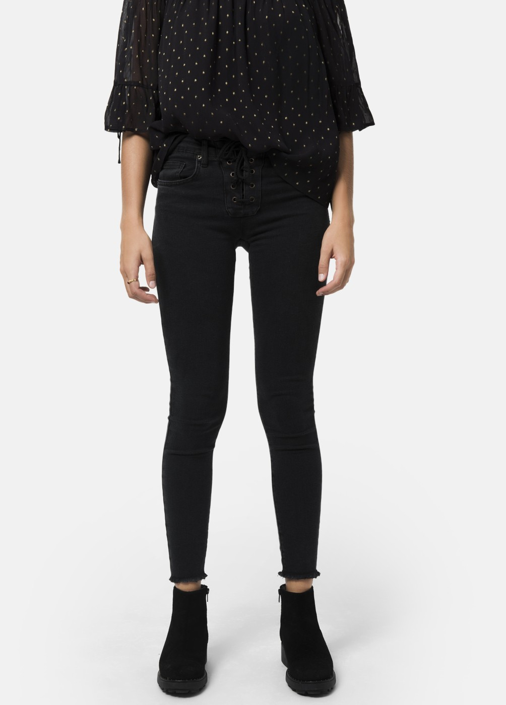LILIAN SIDE RIBBED SKINNY JEANS
