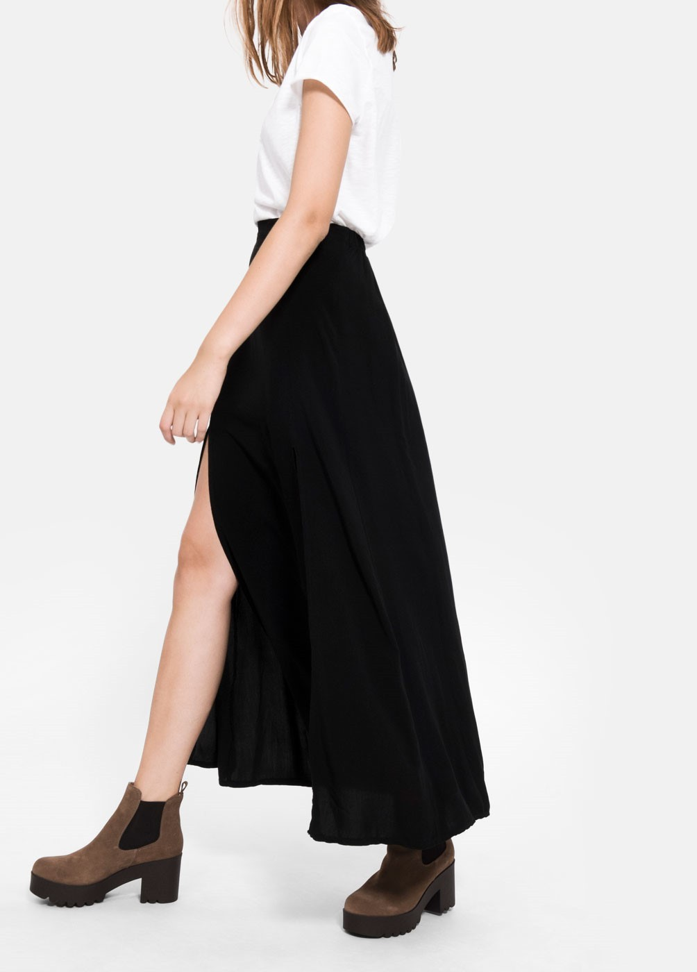 CELINE SKIRT WITH SIDE SLITS