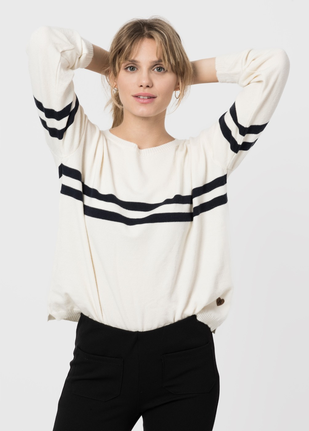 IRON DOUBLE STRIPE SWEATER