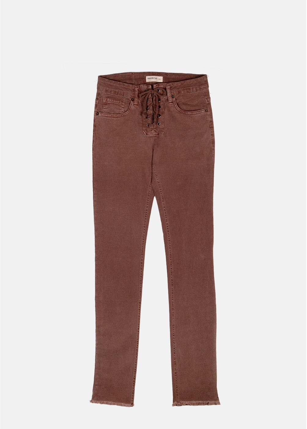 LILIAN SIDE RIBBED SKINNY TROUSERS