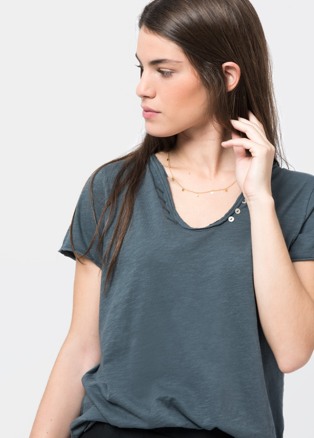 Camiseta botones