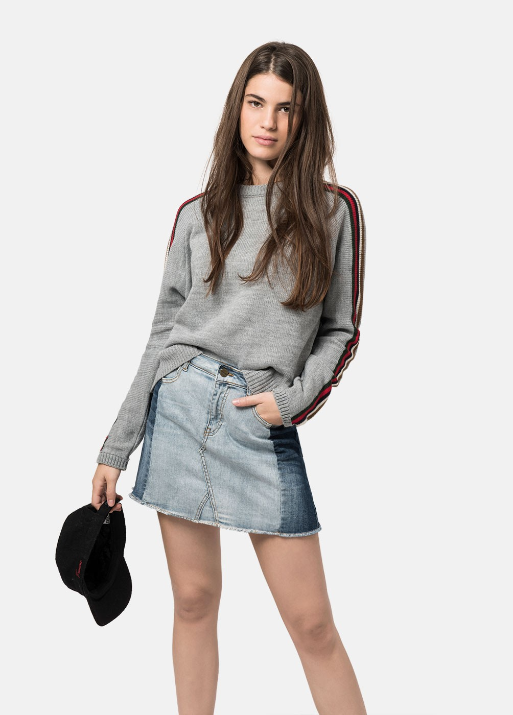 JENER CUT DENIM SKIRT