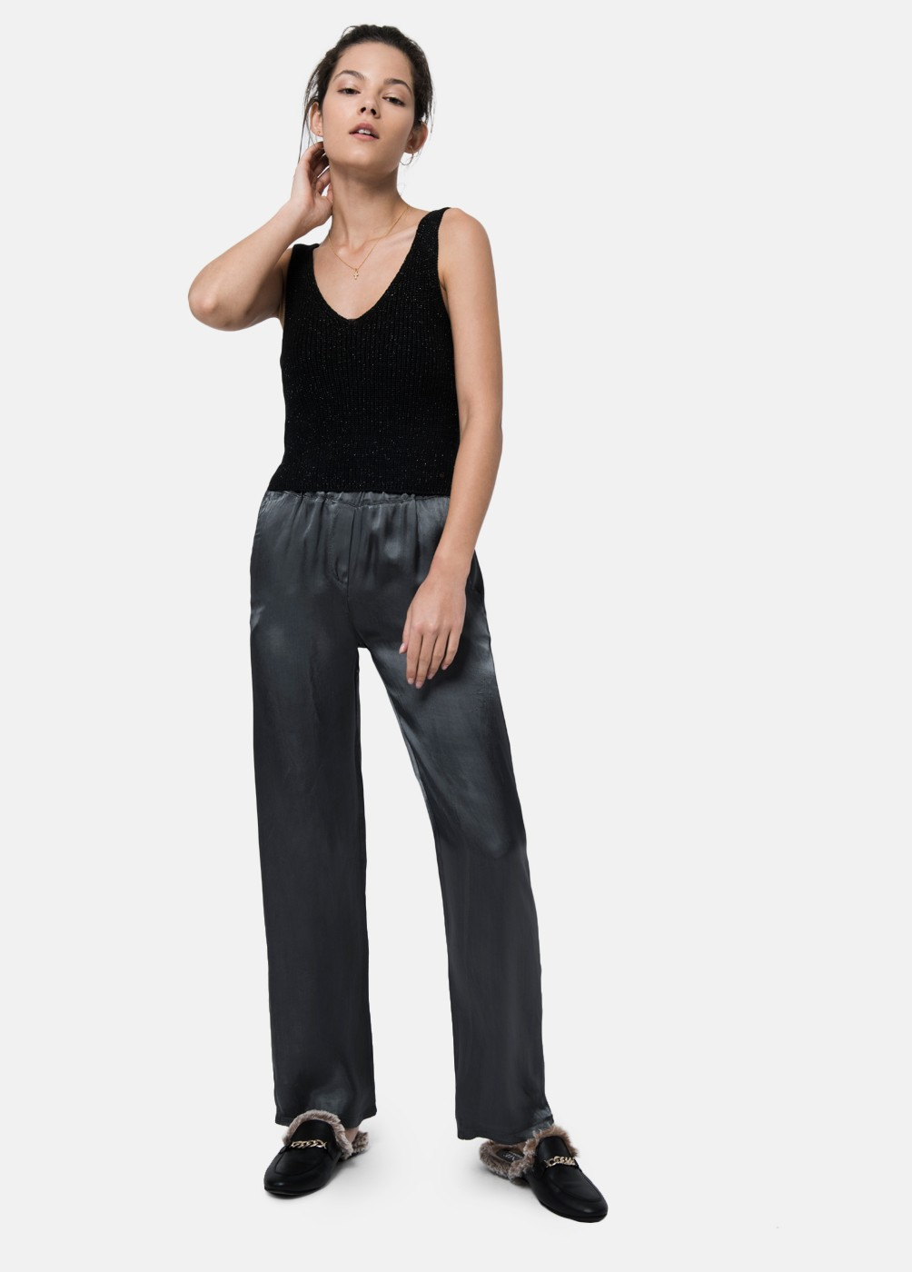 Pantalon saten Margie