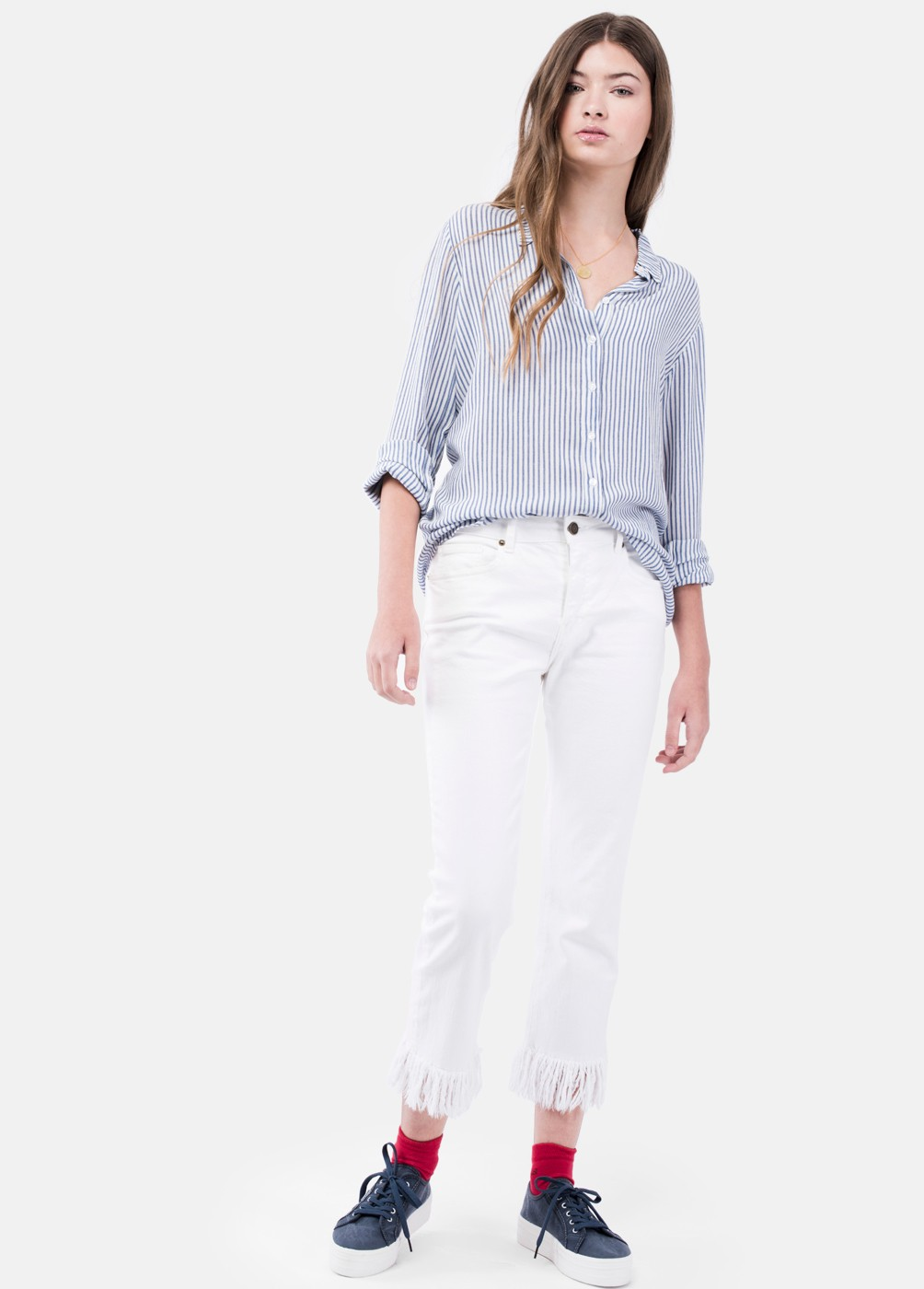 PANTALON VALLE SLIM DESFLECADO VALLE