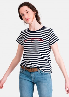 CAMISETA MIMI C/R RAYAS HAMPTONS GIRLS