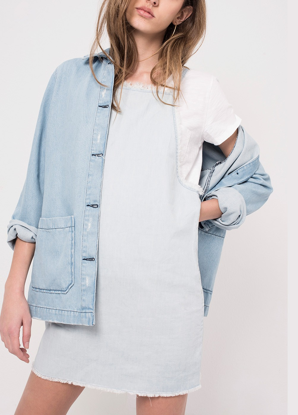 GRACE DENIM TRENCH COAT