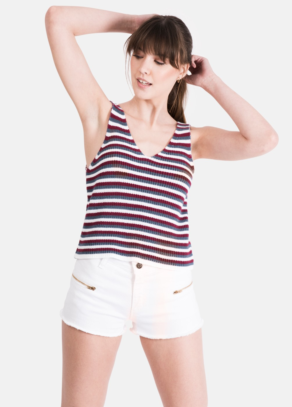 SHORT CREMALLERAS DYLAN STRIPES