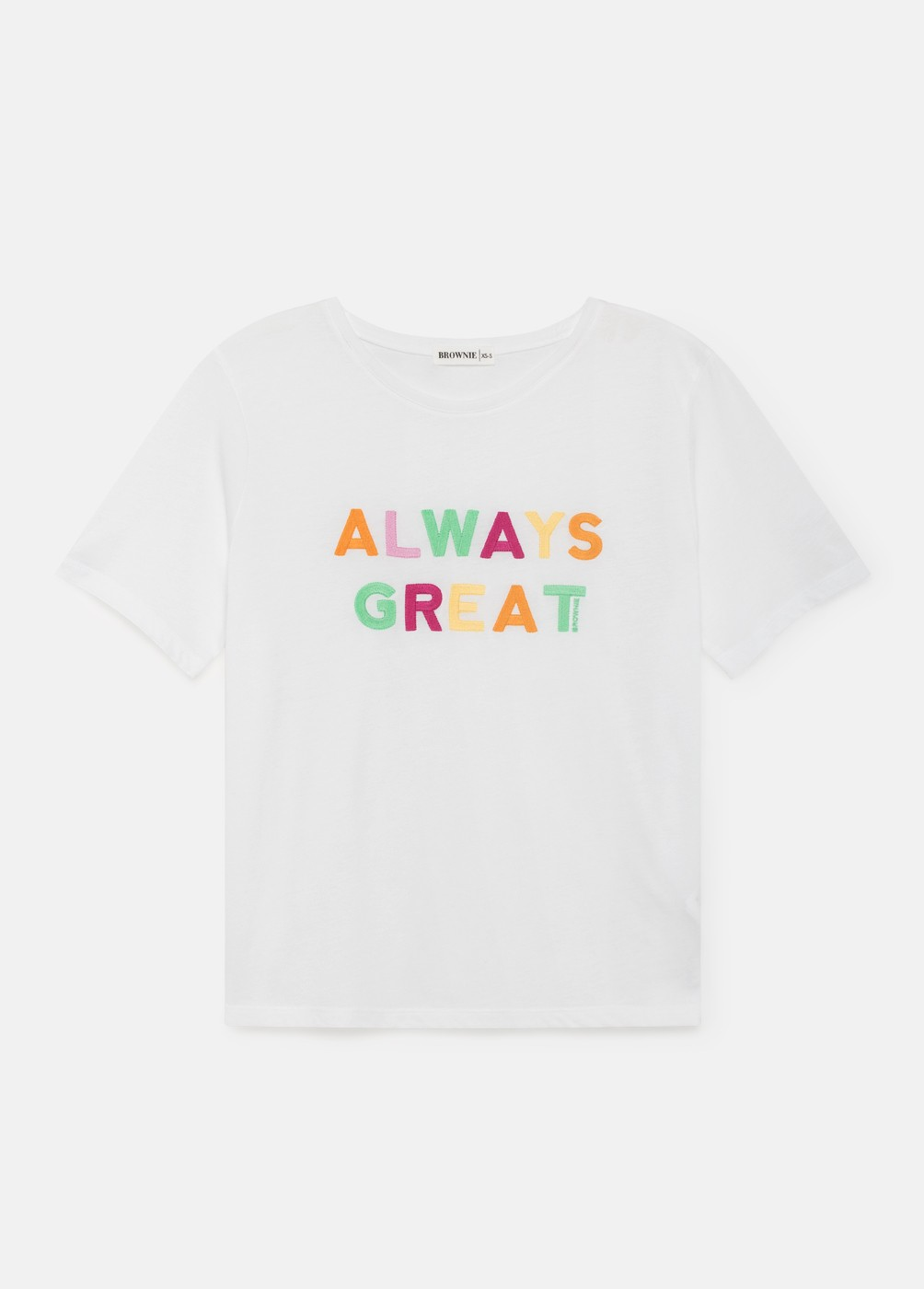 CAMISETA GREAT LETRAS COLORES MIRACLE