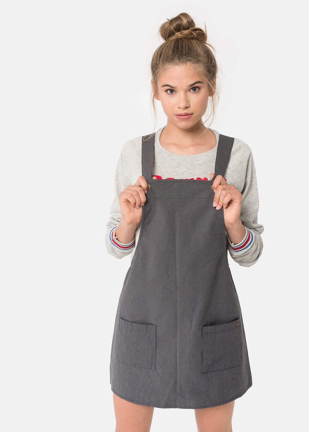 BEVERLY CHECKED DUNGAREES