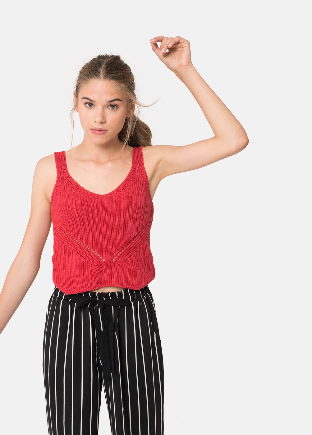 KNITTED POINT TANK TOP