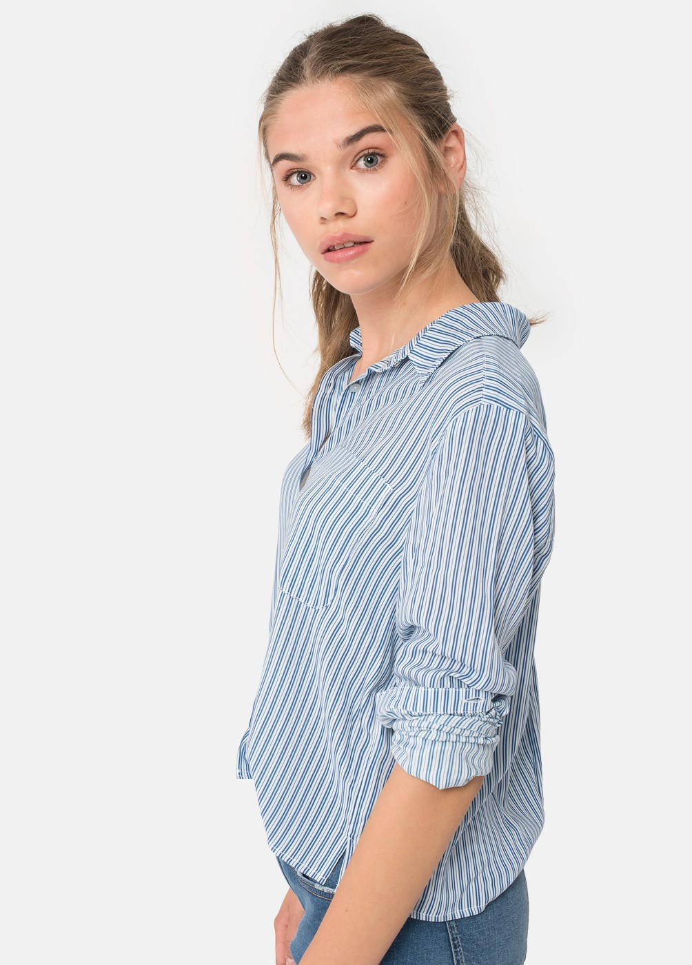 BORA T-SHIRT WITH PRINTED STRIPES