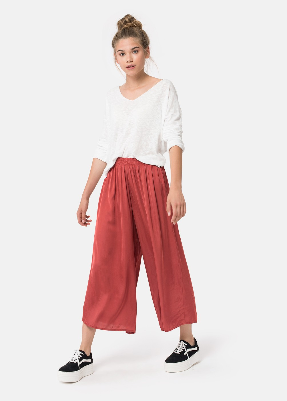 FLOATY CROPPED TROUSERS