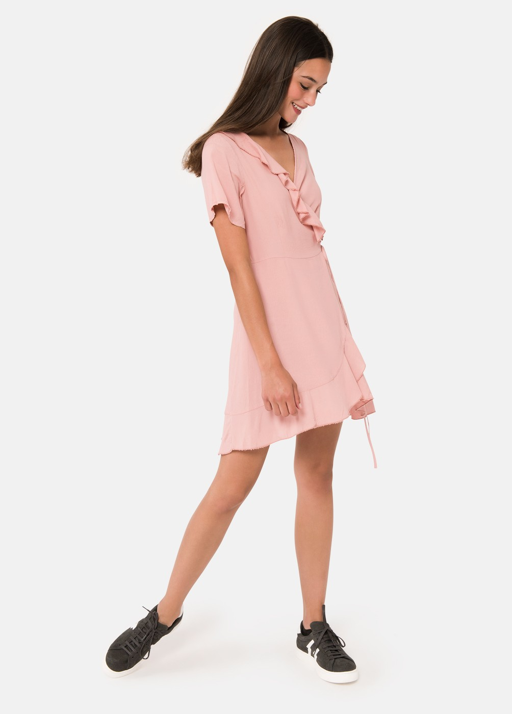 VOLDUE FLOATY CROSSOVER DRESS