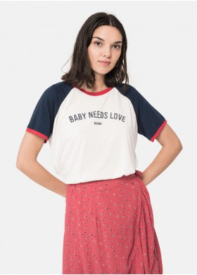 Camiseta Baby M/Contraste