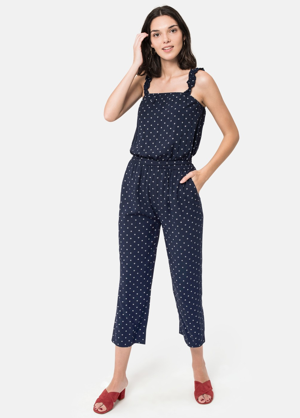 MONO POLKA PATTERNED TROUSERS
