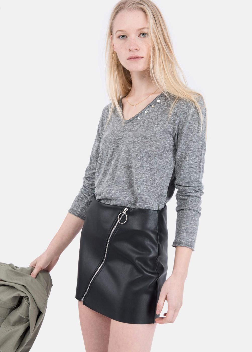 GUILIA RING PU ZIPPER DRESS