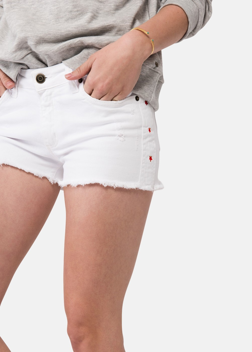 MILANO EMBROIDERED STAR SHORTS