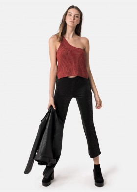TOP AMBRA ONE-SHOULDER LUREX