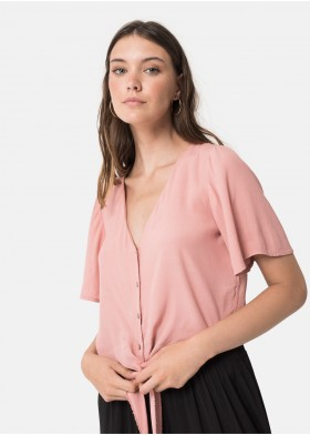 ASHVILLE SHORT SLEEVE KNOTTED BLOUSE