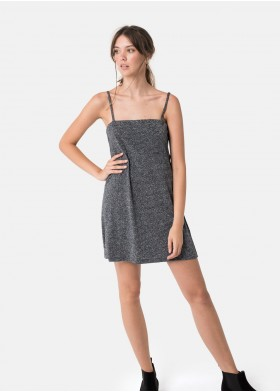 INDIA V-NECK LUREX DRESS
