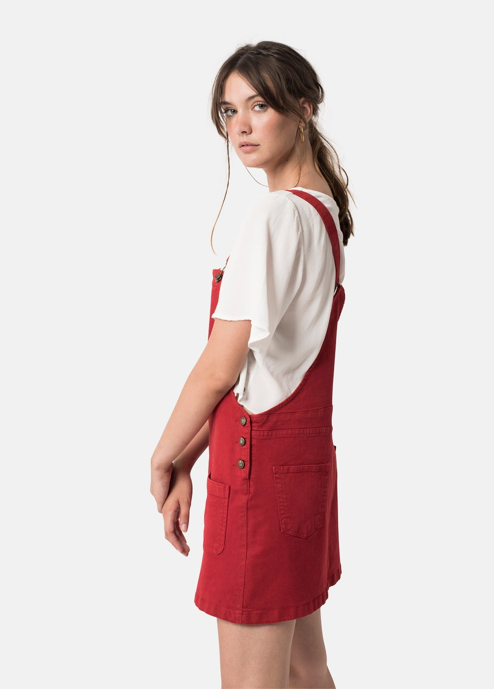 HOME DUNGAREE DRESS