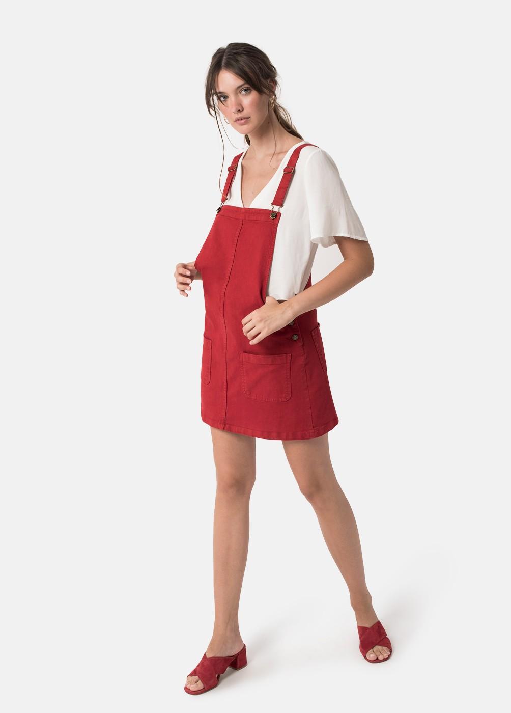 HOME DUNGAREE DRESS