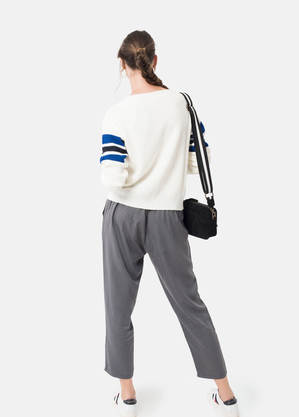 BLUE BROWNIE EMBROIDERED JUMPER