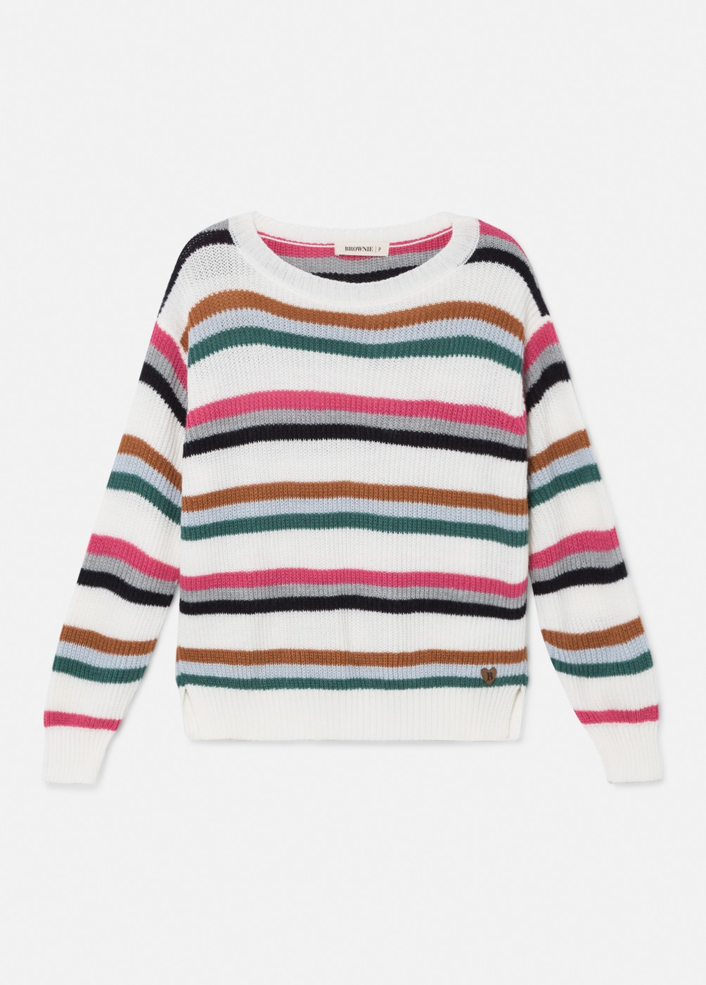 MAGDA MULTI-COLOURED STRIPED JUMPER