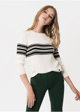 DHALIA RIBBED STRIPED JUMPER