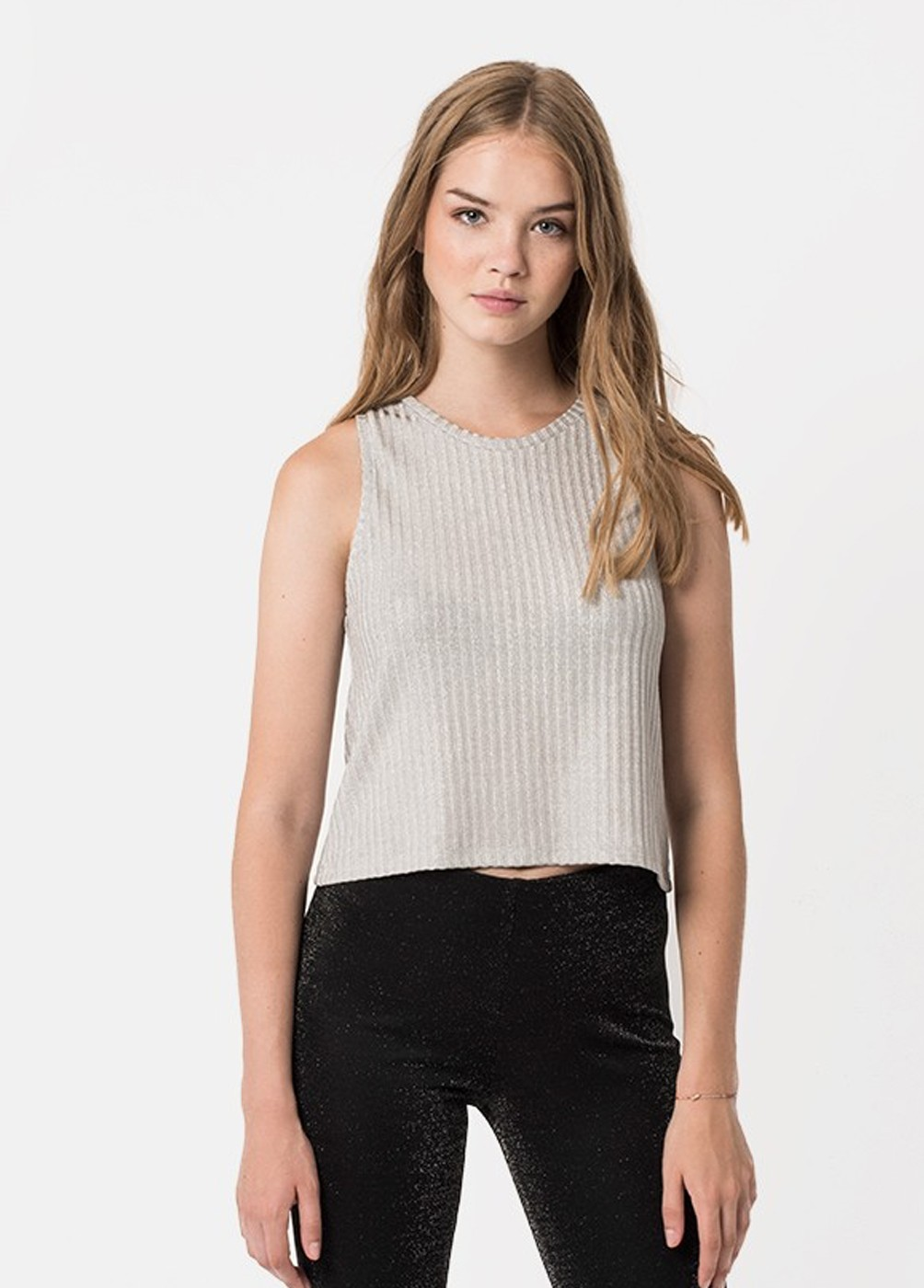 DITA LUREX RIBBED TANK TOP