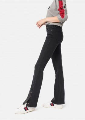 GINA BELL BOTTOM TROUSERS WITH SNAPS