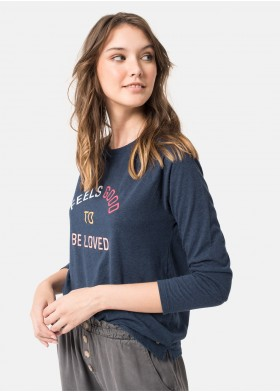 FEELGOOD CREW NECK LONG-SLEEVED T-SHIRT