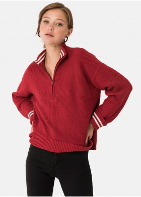 ROSANE ZIPPED COLLARED LINE JUMPER