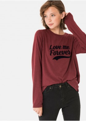 LOVEME CREW NECK LONG-SLEEVED T-SHIRT
