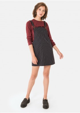 RAIMON STRIPED DIPLOMATICA DUNGAREE DRESS