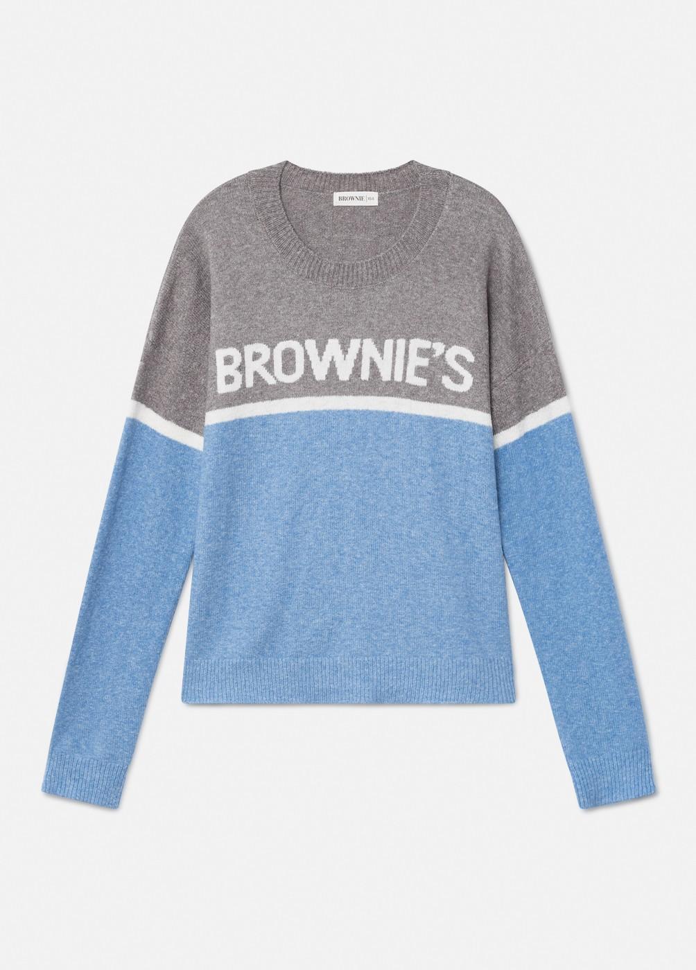 BROWNIE BICOLOUR SPOT DRESS