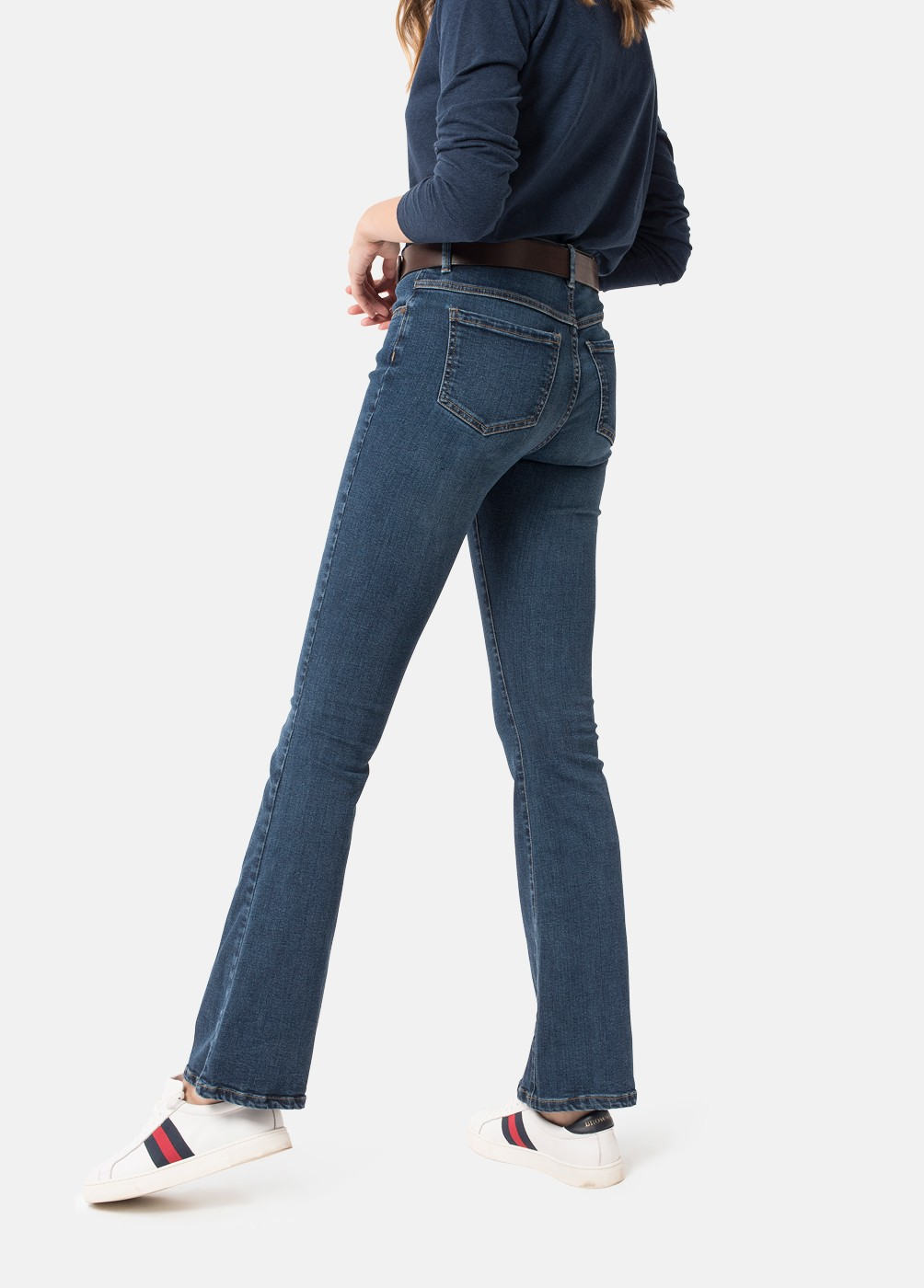 FLARE STRETCH BELL-BOTTOM JEANS