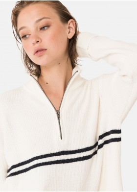 NINET ZIPPERED STRIPE JUMPER