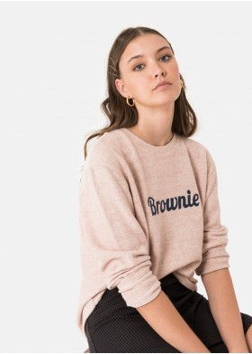 RIPPED BROWNIE LOGO T-SHIRT