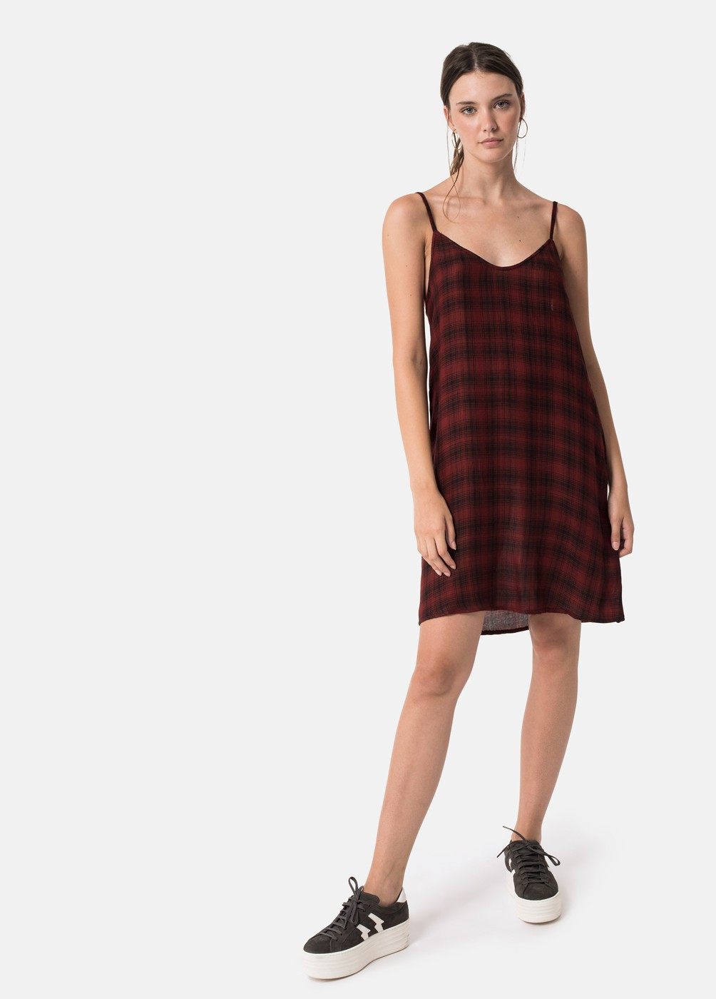MAGALI CHECKED DRESS