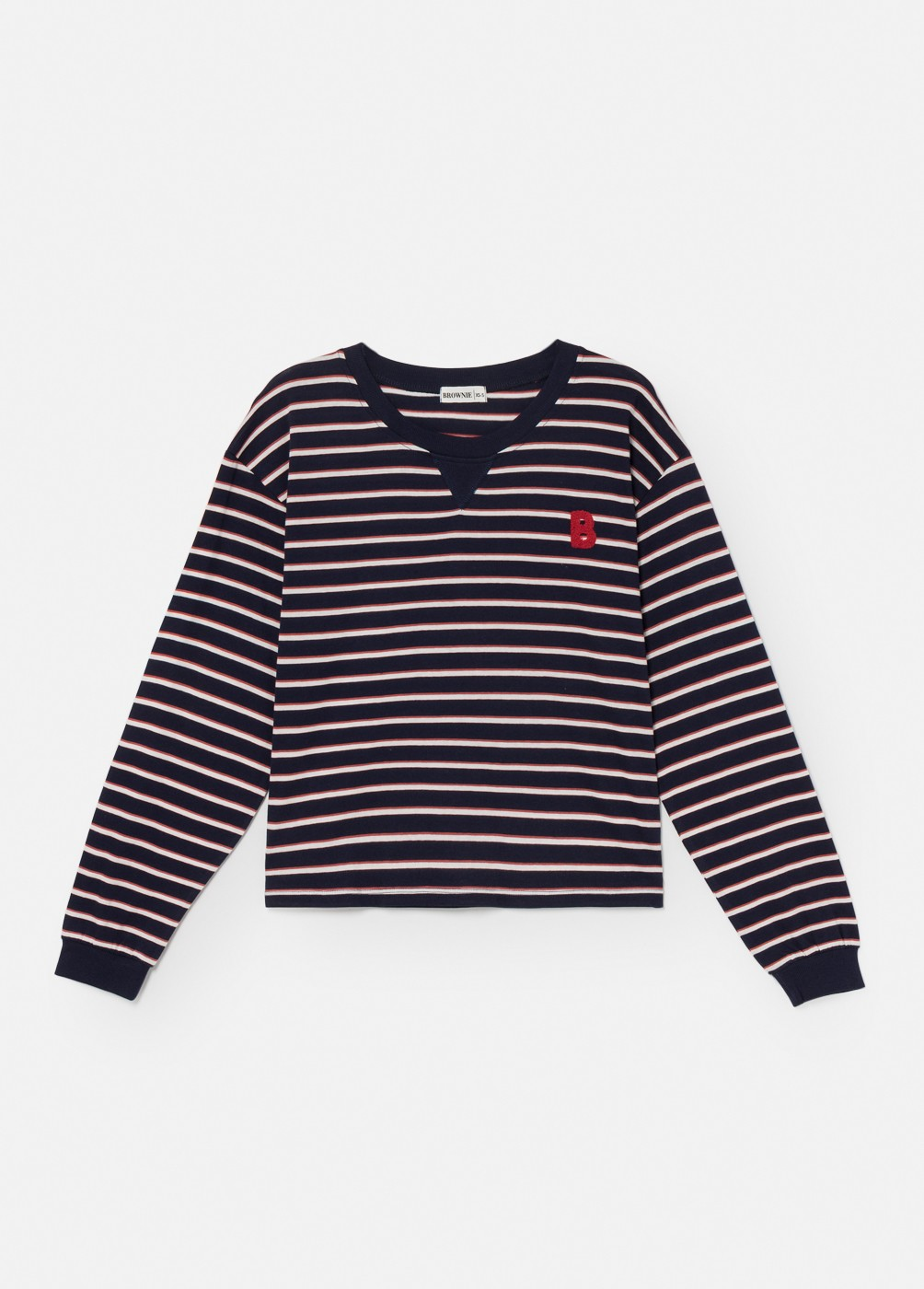 NORD CREW NECK LONG-SLEEVED STRIPED T-SHIRT
