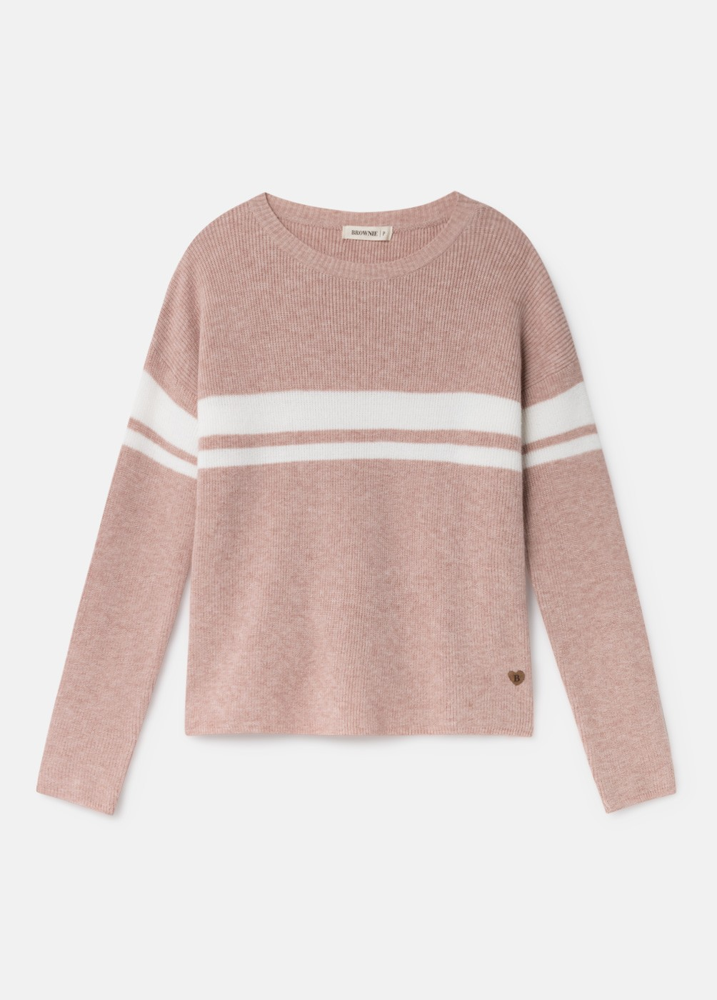 LIV PINK ROUND NECK STRIPED JUMPER